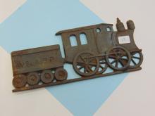 Lot 17: Vintage Cast Iron W&ARR Locomotive Decoration