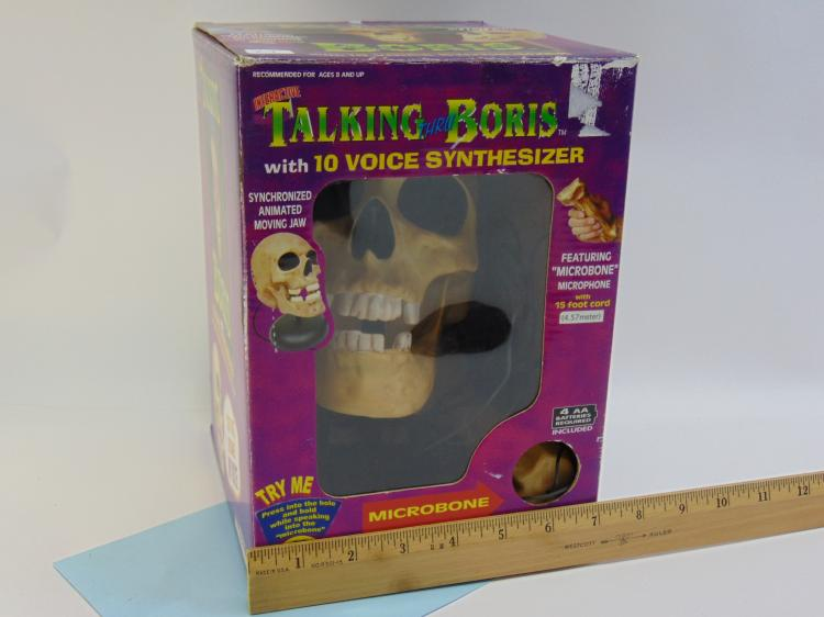 Battery Operated Interactive Talking Boris Skull