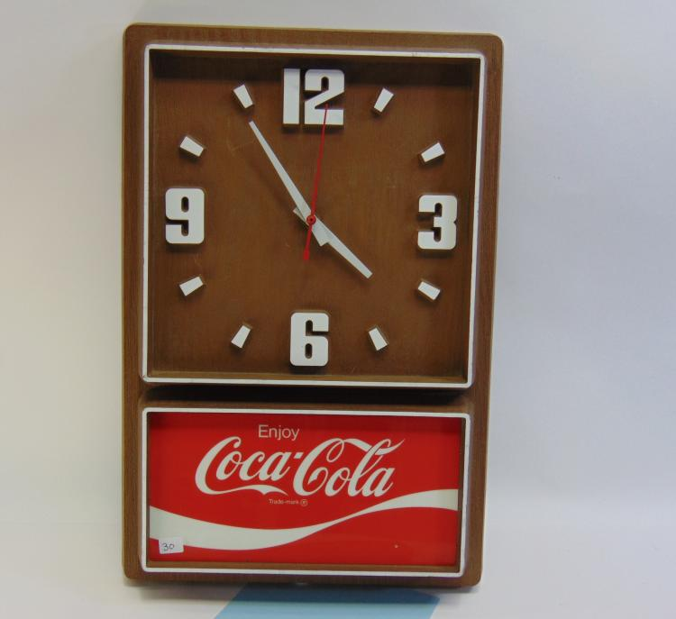 Vintage Coca-Cola Electric Wall Clock
