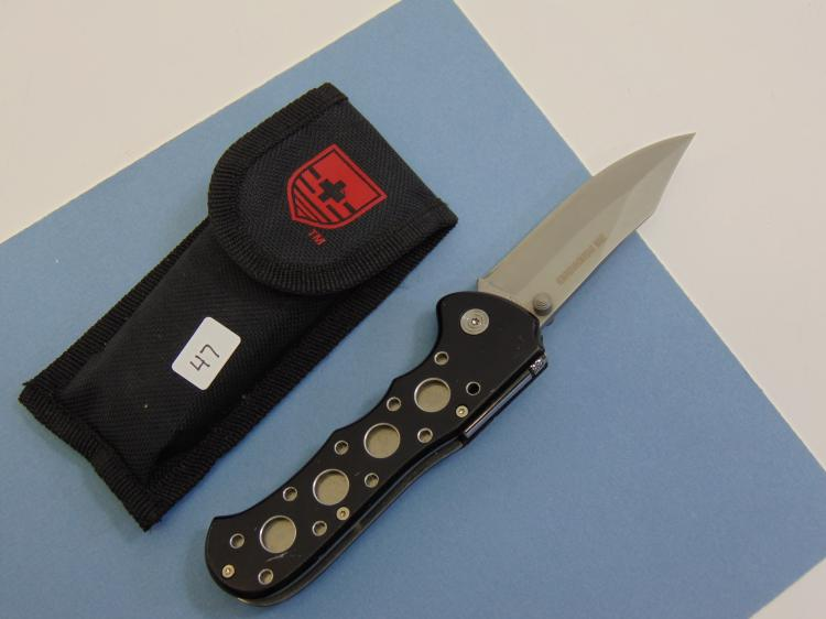 Folding Lock Blade Knife W/ Nylon Case