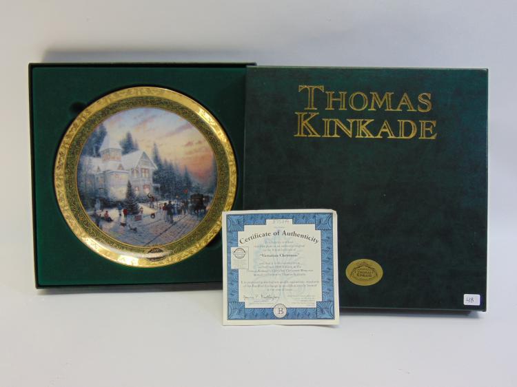 Bradford Exchange Thomas Kinkade Christmas Plate