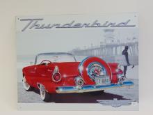 Lot 2: Ford Thunderbird Advertisement Tin Sign