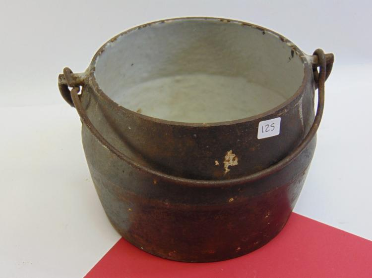 Vintage Cast Iron Enamel Lined Boiling Pot