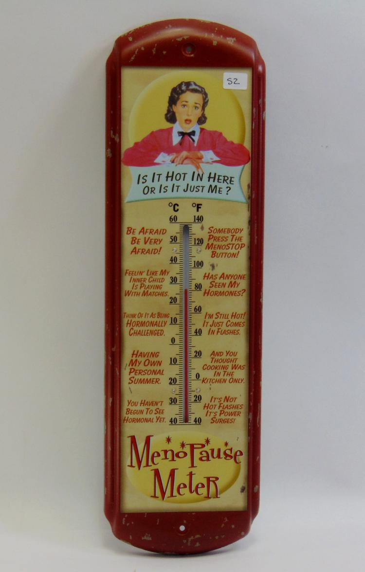 Menopause Meter Novelty Tin Thermometer