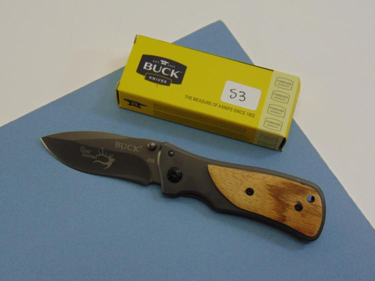 New Buck Brand Lock Blade Pocket Knife