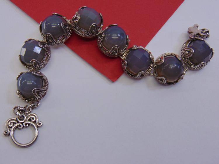 58g Sterling Agate BA Suarti Indonesia Bracelet