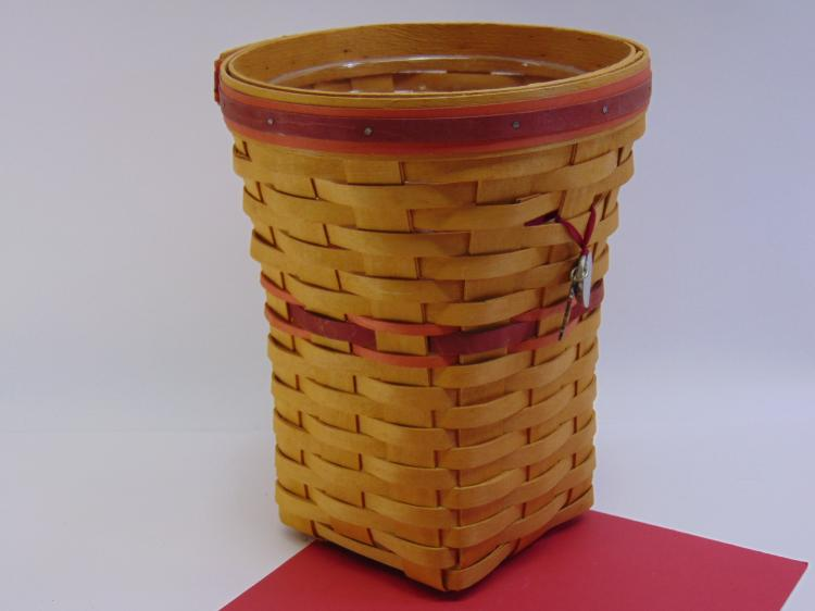 Longaberger Small Handmade Waste Basket