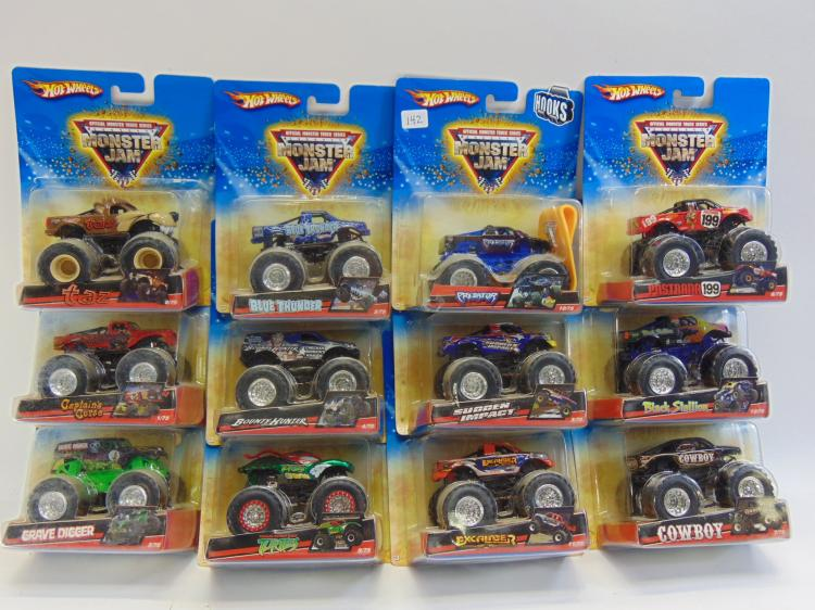 Mattel Hot Wheels Monster Jam Toy Truck Lot Of 12