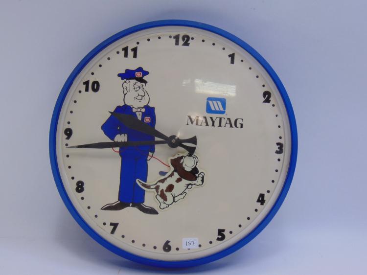 Vintage Maytag Advertisement Pendulum Wall Clock