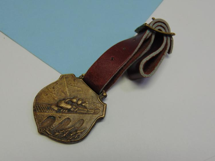 Vintage Brass Railroad Watch Fob