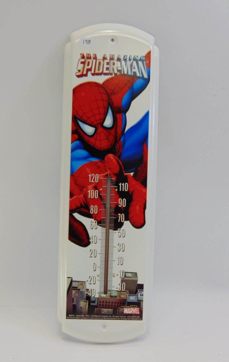 Marvel Amazing Spiderman Tin Thermometer