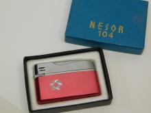 Vintage Japan Nesor 104 Refillable Butane Lighter In Original Box