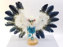 Vintage Navajo Betty Ann Carved Wood Eagle Kachina