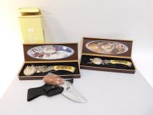 Lot Of 3 Collectors Knives And 2 Pocket Watches