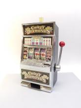 Modern Battery Operated Crazy Diamonds Slot Machine Bank