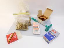 Ammo Reloading Brass Shells & Primers Lot