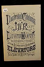Elevator Lot  JW Reedy Elevator Book & Blue Print
