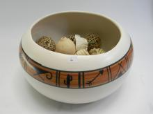 Lot 6: Native American Janet Haefner Signed Clay Bowl