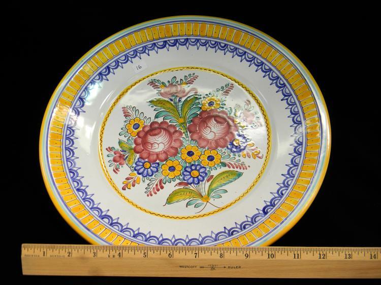 Lot 16: Czechoslovakia Handpainted Decorative Plate