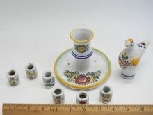 Lot 17: Czechoslovakia Handpainted Decorative Items Lot