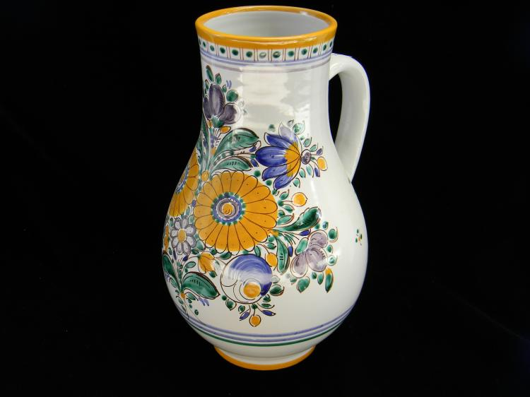 Czechoslovakia Handpainted Water Pitcher