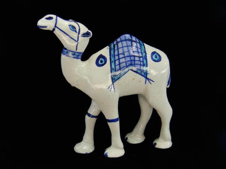 Vintage Ceramic Handpainted Camel Figurine