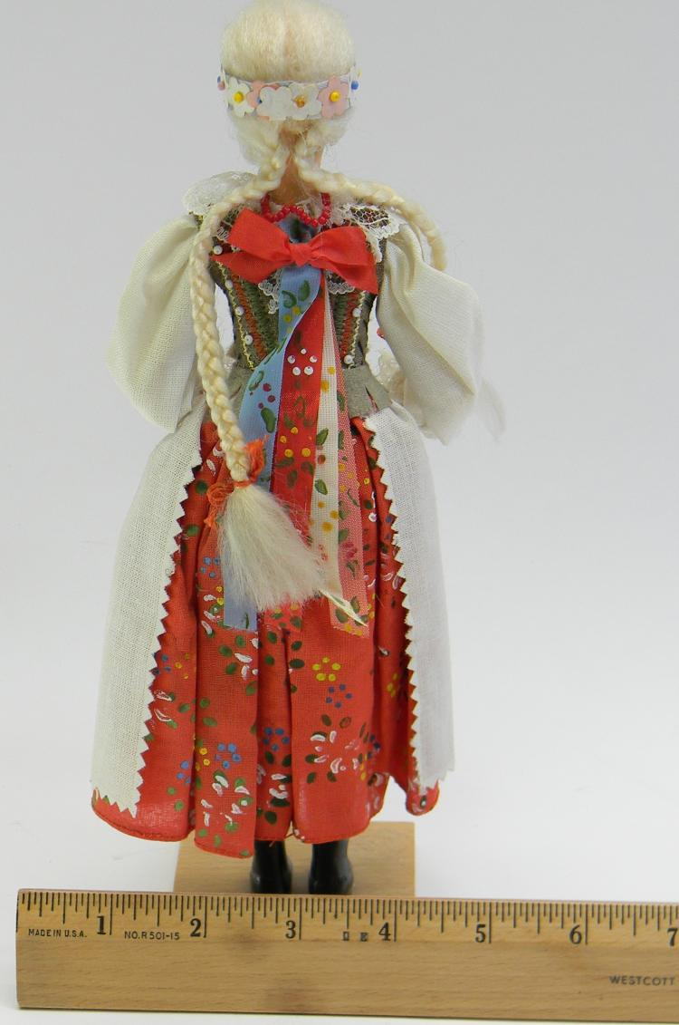 Lot 24: Handcrafted Doll Figurine In Native Dress