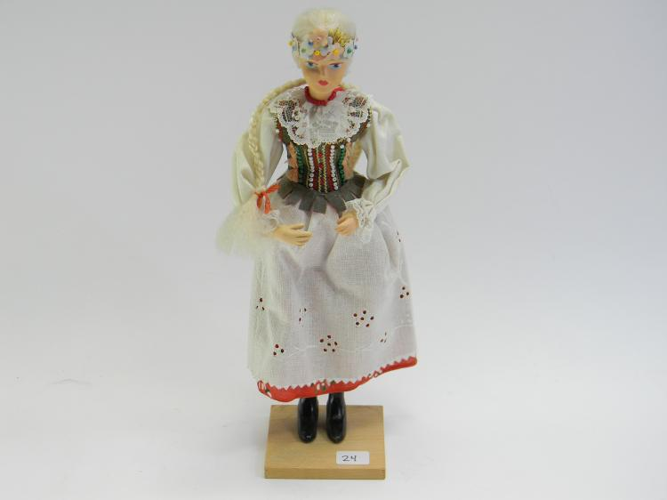 Handcrafted Doll Figurine In Native Dress