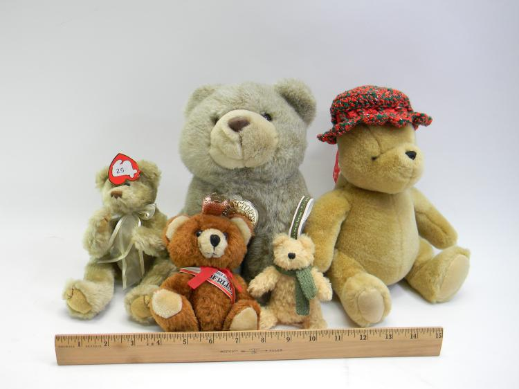 Lot 25: Assorted Teddy Bear Lot Of 5