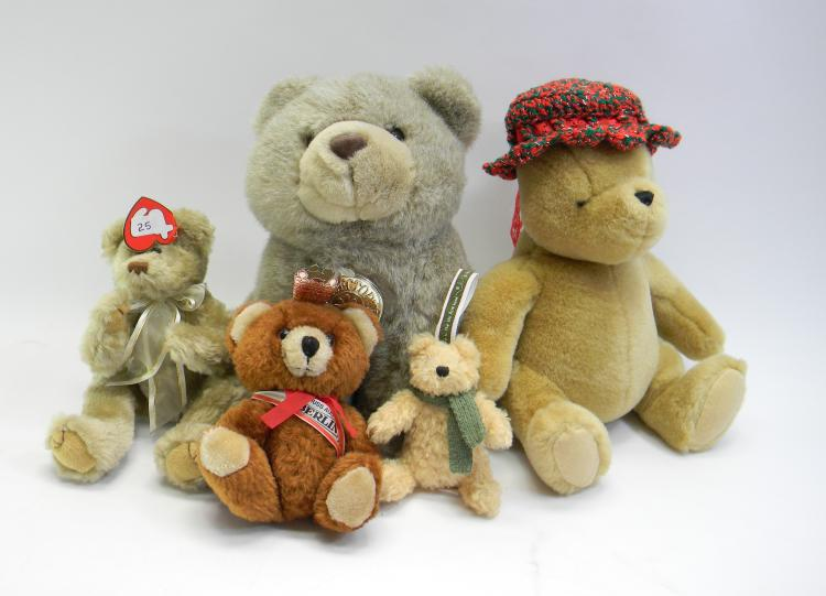Assorted Teddy Bear Lot Of 5