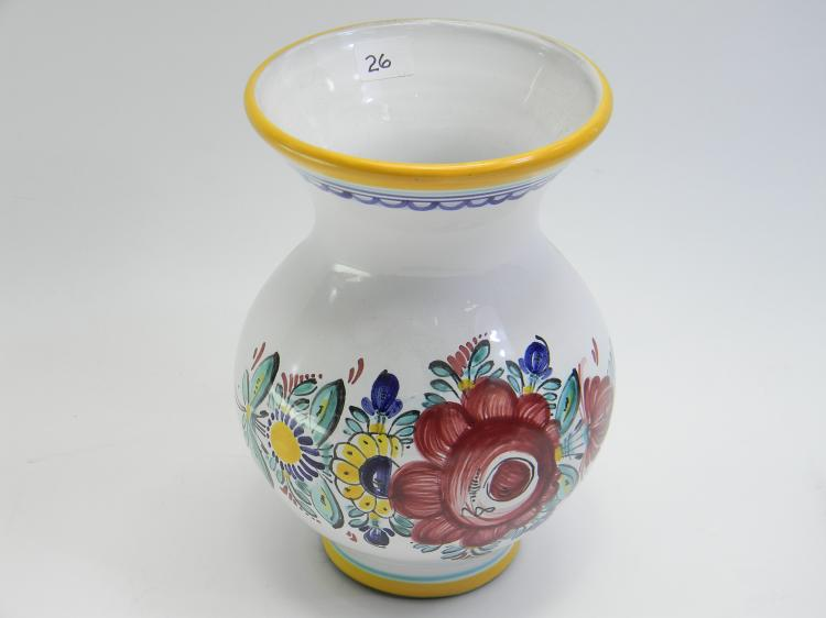 Czechoslovakia Handpainted Decorative Flower Vase