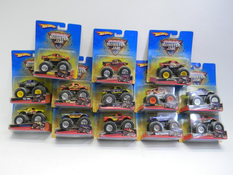 Hot Wheels Monster Jam Monster Truck Toy Lot Of 13