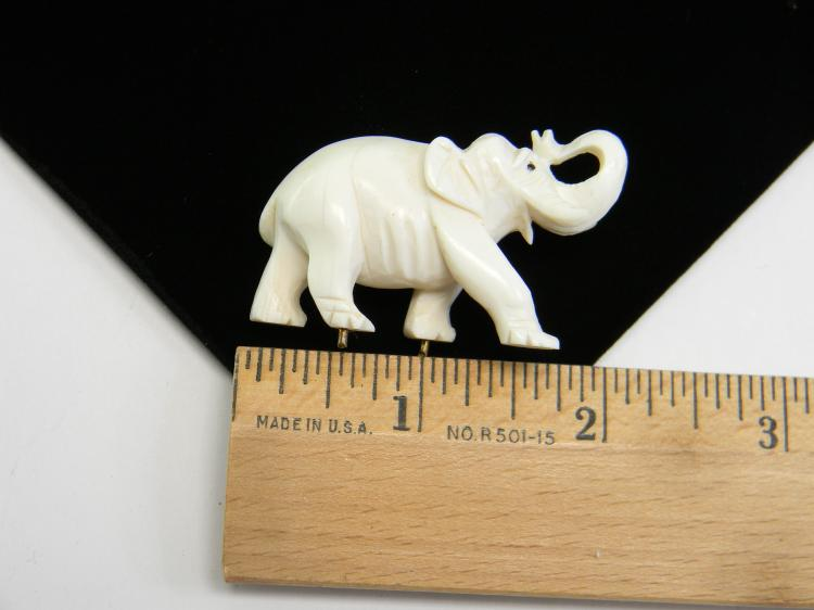"Vintage Carved Ivory ""Elephant"" Figurine"