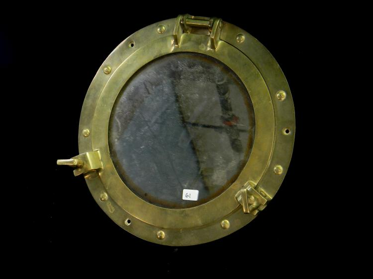 Vintage Brass Ship Porthole Window Picture Frame