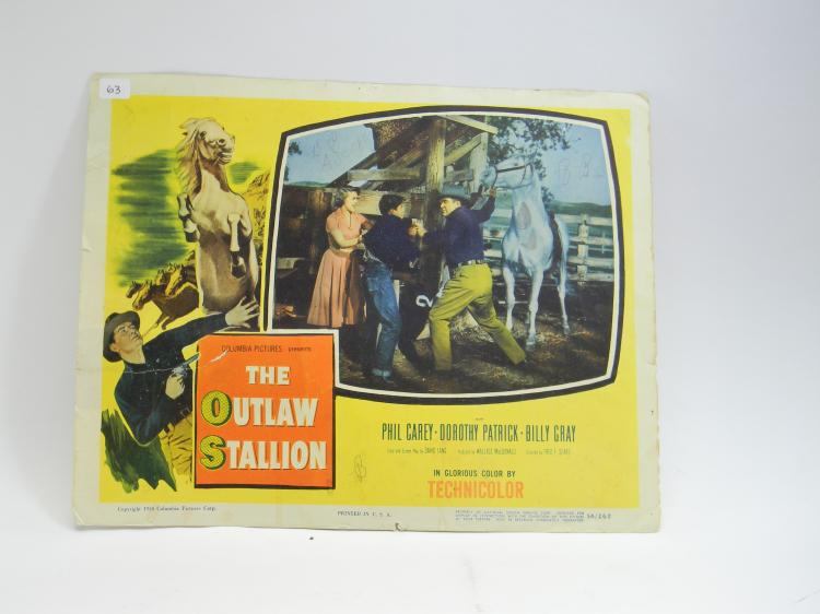"1954 ""The Outlaw Stallion"" Movie Lobby Card"