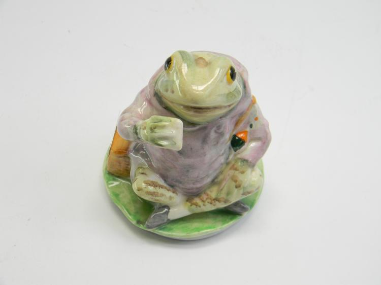 "Beatrix Potters ""Mr Jeremy Fisher"" Frog Figurine"