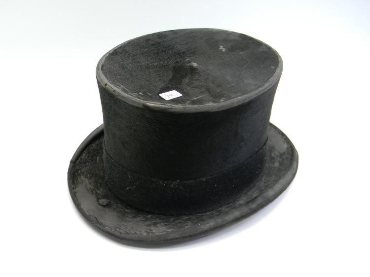1800's Black Beaver Top Hat