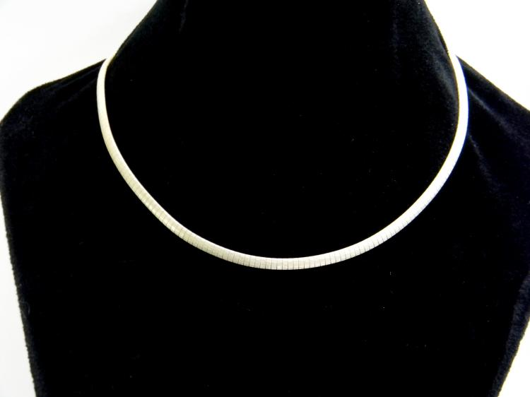 19g Sterling Italy Flat Hammered Chain Necklace