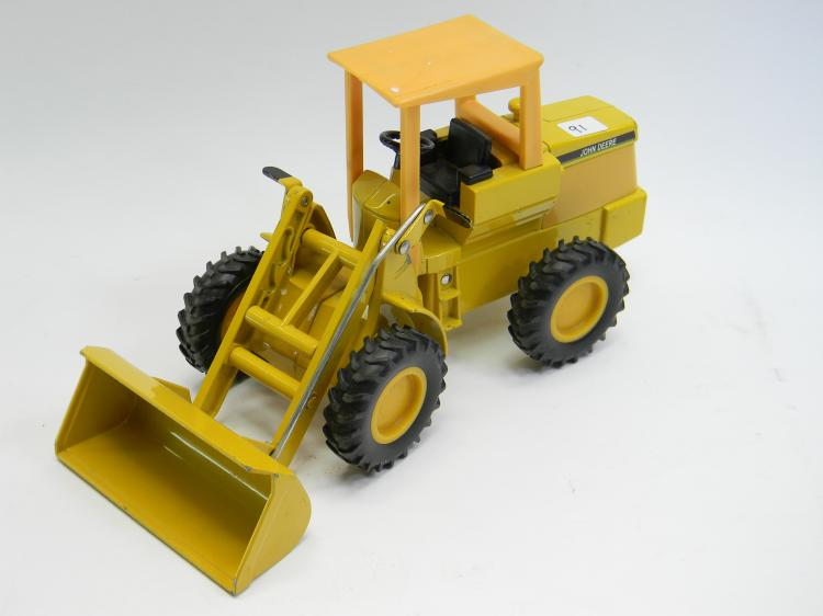 Vintage John Deere Yellow Toy Front Loader