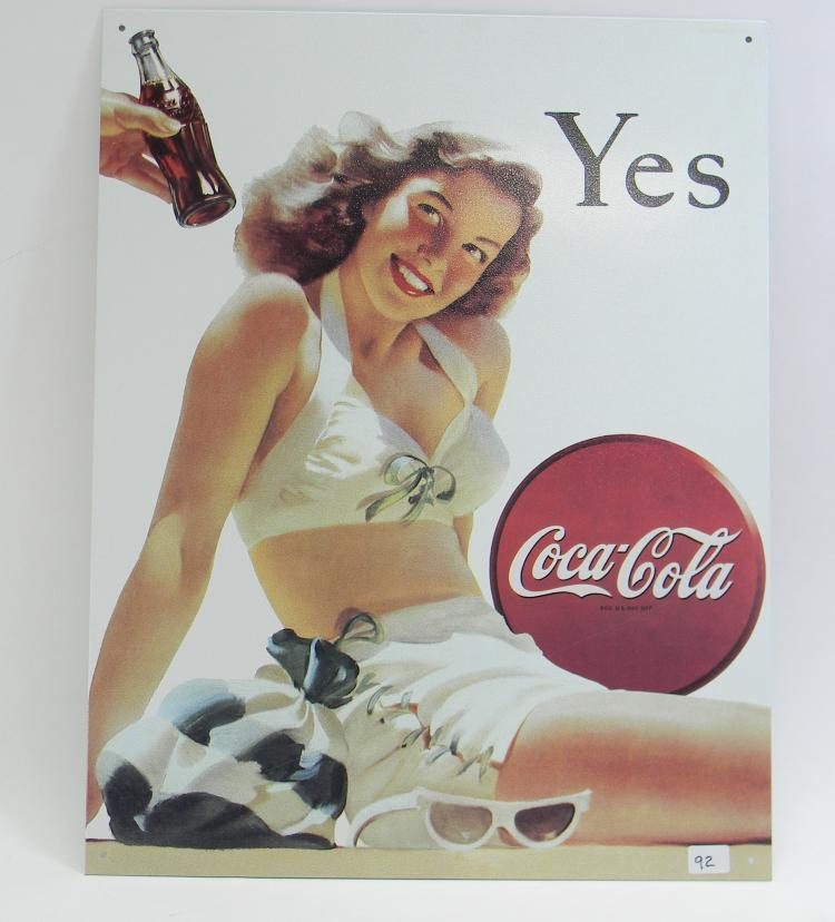 Vintage Style Coca-Cola Advertisement Tin Sign