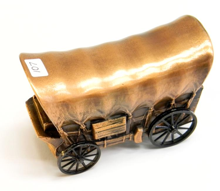 "1974 Banthrico ""Covered Wagon"" Metal Bank"