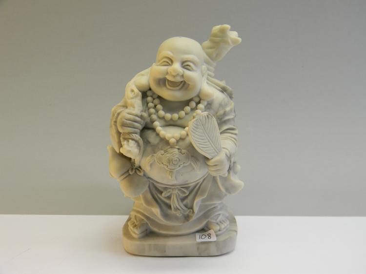 "Modern Resin Pour ""Jolly Buddha"" Figurine"