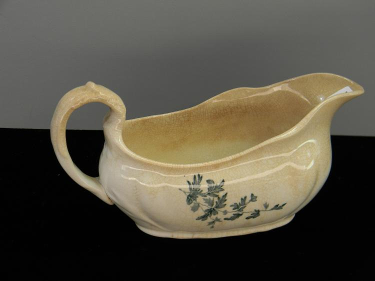 Antique 1859 TM&S Ceramic Gravy Boat