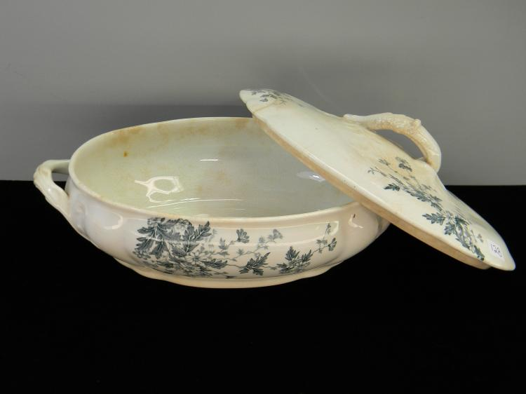 1859 TM & S Ceramic Serving Dish W/ Lid