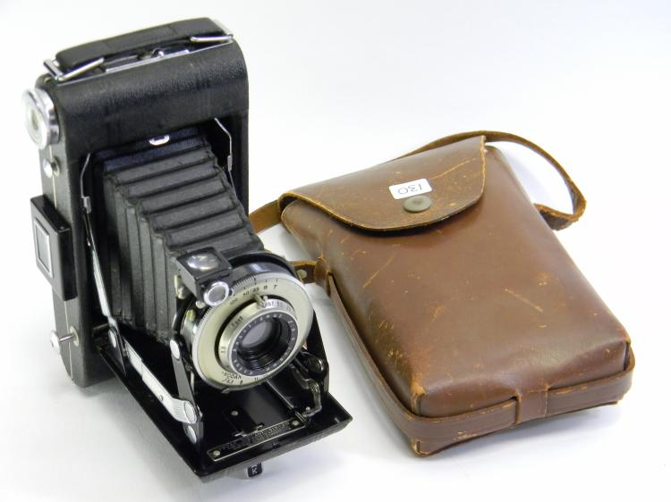 Antique Kodak No#1 Diomatic Pocket Camera W/ Case