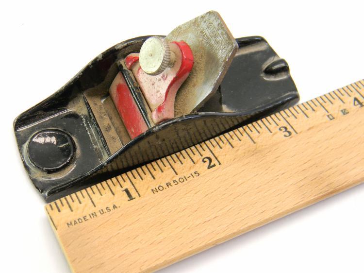 Vintage Stanley Mini Wood Plane Hand Tool