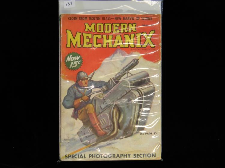 "Feb 1938 ""Modern Mechanix"" 15 Cent Magazine"