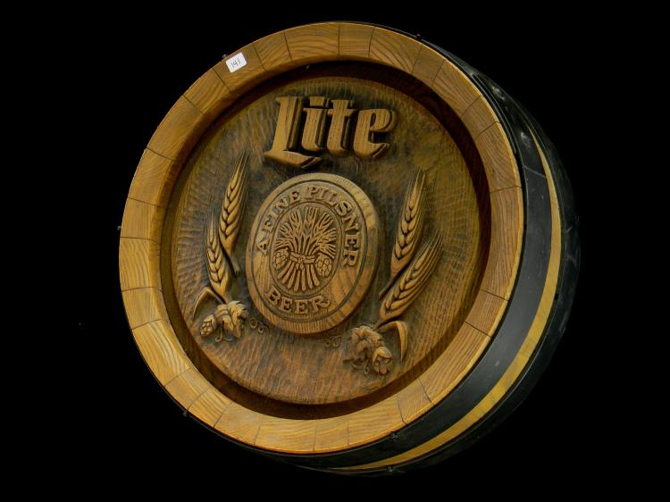"Miller Lite ""Keg End"" Advertisement Bar Sign"