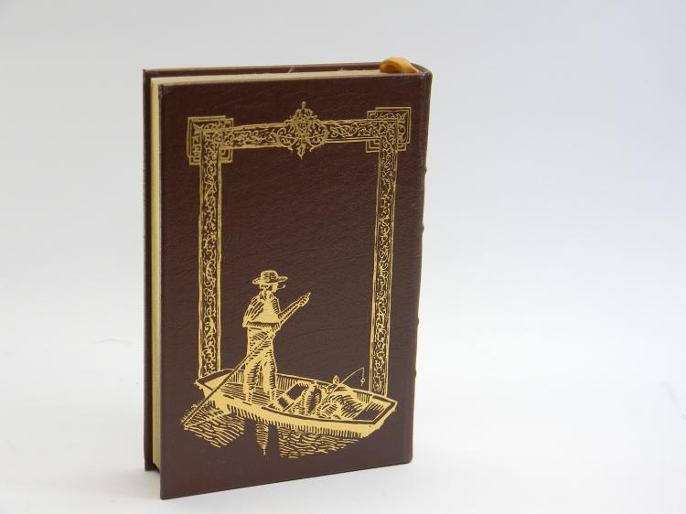 "Leather Bound ""Huckleberry Finn"" By Mark Twain"