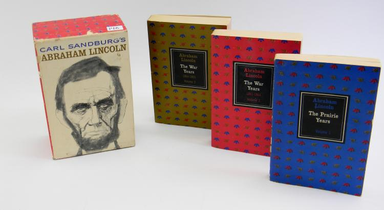 Carl Sandburg's Abraham Lincoln 3 Vol Book Set